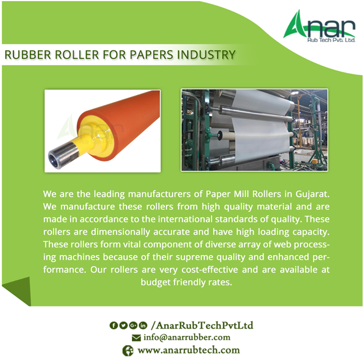 Rubber Roller For Paper Industries