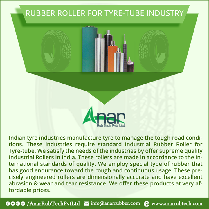 RUBBER ROLLER FOR TYRE-TUBE INDUSTRY