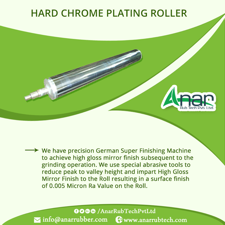 Hard Chrome Plated Rubber Roller