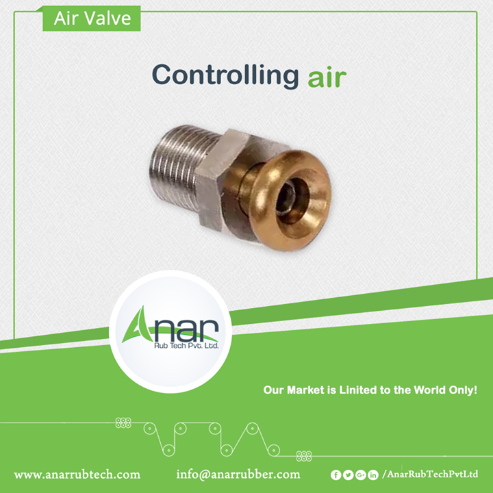 Air valves manufactured by Anar Rub Tech Pvt. Ltd. gives the stimulating flow of water and releases without any hassle. With the large flow passages, it frees the air and works in an efficient manner. #Airvalves #AirvalvesManufacturers #AirvalvesSuppliers #AirvalvesExporters w:http://anarrubtech.com/