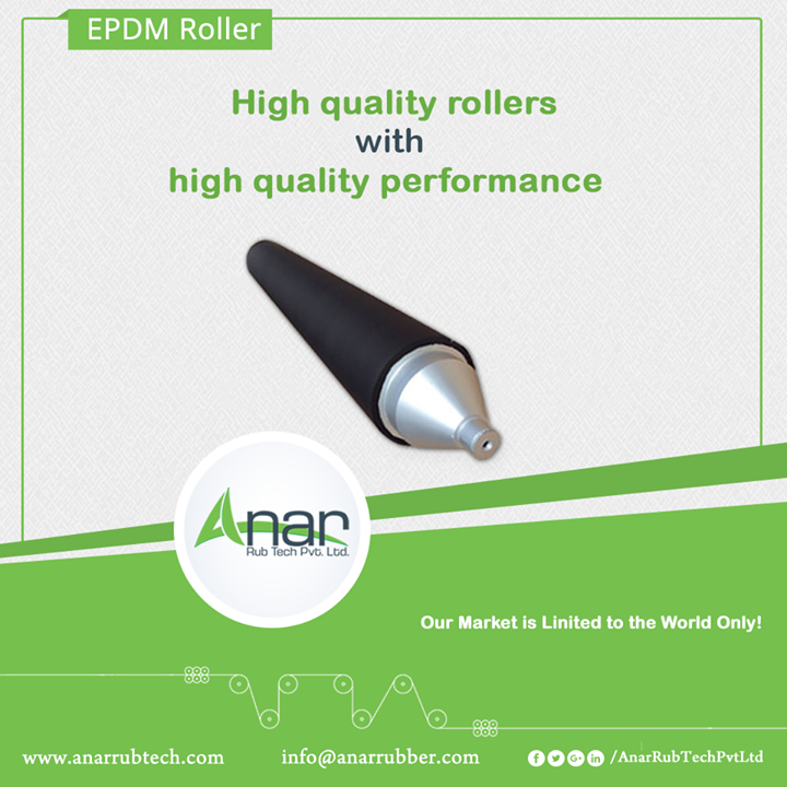 Anar Rub Tech Pvt. Ltd. manufactures multi-purpose rubber rollers which bring an ease in laminating, printing and packaging across the globe. #EPDMRubberRoller #EPDMRubberRollerManufacturers #EPDMRubberRollerSuppliers #EPDMRubberRollerExporters w:http://anarrubtech.com/