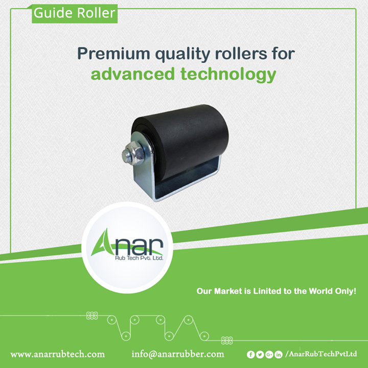 For global use and in convergence with its standards, Anar is manufacturing hi-tech rollers for capturing a global mark. These rollers are customizable as per the specific requirements.  #GuideRoller #GuideRollerManufacturers #GuideRollerSuppliers #GuidRollerExporters w:http://anarrubtech.com/