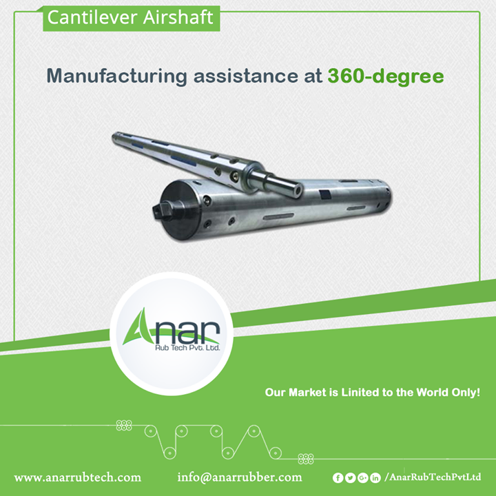 Air shaft with the multilateral view of 360-degree gives support to wall core and lessens the chances of deformation. Anar recommends it to the usage of narrow roll width and multiple cores. Chrome-plated surface strengthens the performance of air shafts.  #Airshaft #AirshaftManufacturers #AirshaftSuppliers #AirshaftExporters w:http://anarrubtech.com/