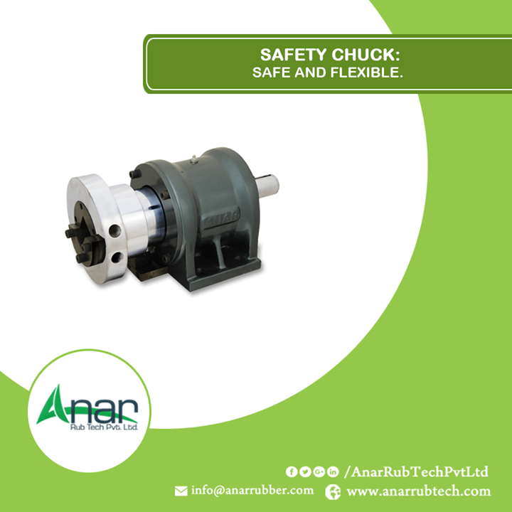 Safety chuck by Anar Rub Tech Pvt. Ltd. gives a calm mechanism which runs without affecting other industrial units and it also saves time in loading or unloading.