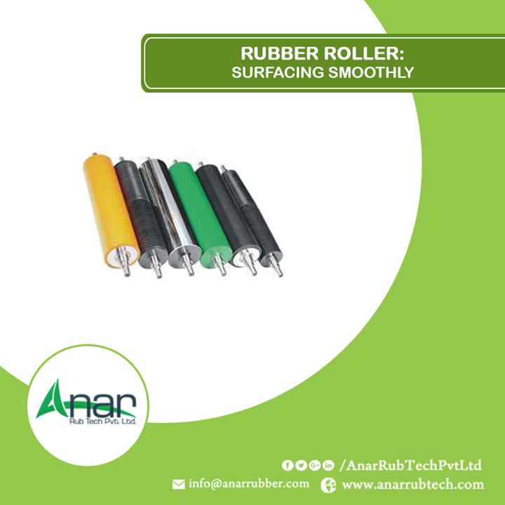 Anar Rub Tech Pvt. Ltd. manufactures rubber rollers that bring uniformity in packaging, printing or any other industry.