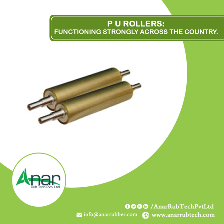 Polyurethane Rollers are made with international quality standards that are highly used in international countries to fulfill their requirements. #PURollers #PURollersManufacturers  #PURollersSuppliers  #PURollersExporters  w:http://anarrubtech.com/