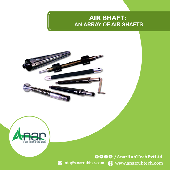 Various air shafts by Anar Rub Tech Pvt. Ltd. performs with saving time and gives no damage to any product.  #AirShafts #AirShaftsManufacturers  #AirShaftsSuppliers #AirShaftsExporters w:http://anarrubtech.com/ M:+91 98250 47390