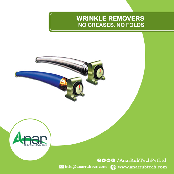 Wrinkle Removers work efficiently in removing wrinkles and edges on any surface. Anar Rub Tech Pvt. Ltd. is much concerned with quality and finishing, so its wrinkle removers clear all roughness. #WrinkleRemovingRollers #WrinkleRemovingRollersManufacturers #WrinkleRemovingRollersExporters #WrinkleRemovingRollersSupplier #ManufacturersofWrinkleRemovingRollers w:http://anarrubtech.com/  E:marketing@anarrubber.com  M:+91 9825405265