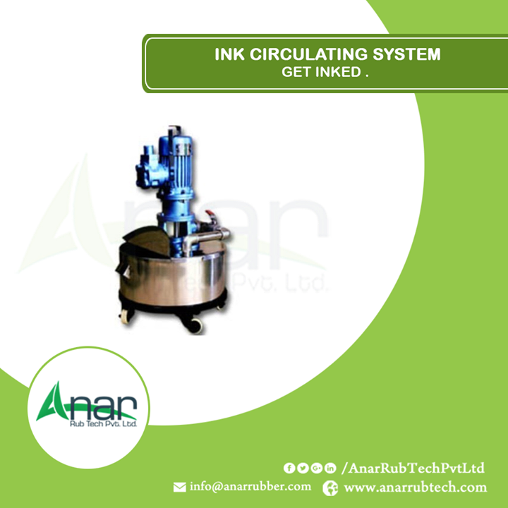 A quality product by Anar Rub tech Pvt. Ltd.which circulates ink without wastage of ink and film by giving optimum output with quality.  #InkCirculatingSystem #InkCirculatingSystemManufacturers #InkCirculatingSystemExporters #InkCirculatingSystemSuppliers