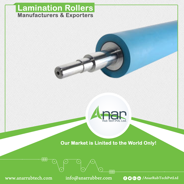 Lamination Rollers Manufacturers & Exporters  Laminating rollers are those rollers which are used in mostly every technical industry. Anar manufactures these rollers with quality raw materials and reliable sellers. Benefits of laminating rollers by Anar are the durability it has, precise printing and accurate outcomes. #LaminationRollers #LaminationRollersManufacturers #LaminationRollersExporters #LaminationRollersSuppliers