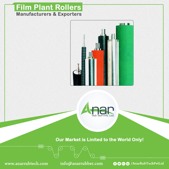 Film Plant Rollers Manufacturers & Exporters With a spectrum of film plant rollers, Anar manufactures film rollers with assistance of engineers with the advanced technology. Moreover, there is a uniform hardness and smooth finish. Cost effective film plant rollers are used by various industries involving printing and packaging.  #FilmPlantRollers #FilmPlantRollersManufacturers #FilmPlantRollersExporters #FilmPlantRollersSuppliers