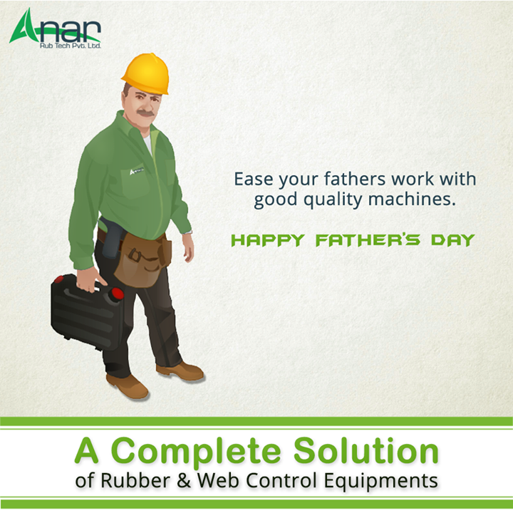 On this Fathers Day, help out your father in work by quality machinery suitable for any industry. Anar manufactures premium machinery suitable for any field or any product. #FathersDay #LugTypeAirExpandableShaftManufacturers #LeafTypeAirExpandableShaftManufacturers #PURollersManufacturers #AirshaftManufacturers  w:http://anarrubtech.com/   E:marketing@anarrubber.com   M:+91 9825405265
