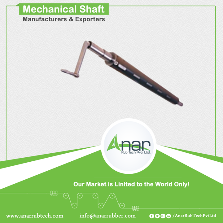 Mechanical Shaft, also known as Bladder Less Shaft, is not just absolute product by Anar but also serves the need of international clients too. With uneven inside diameter, this shaft is very beneficial in power industries for perfectly transmitting power from one part to another. #MechanicalShaft #MechanicalShaftManufacturers #MechanicalShaftExporters #MechanicalShaftSuppliers w:http://anarrubtech.com/   E:marketing@anarrubber.com   M:+91 9825405265