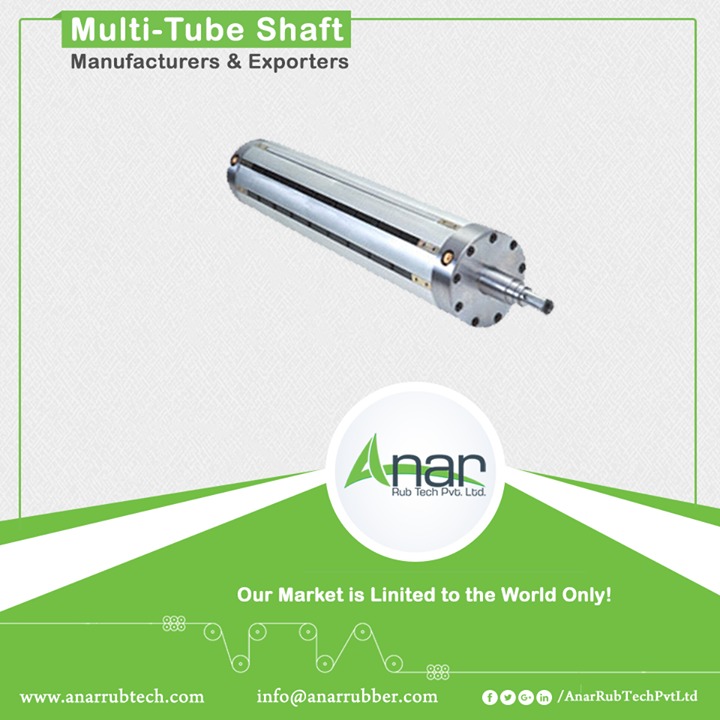 Multi-tube shafts come into role when the bladder fails. Anar manufactures Multi-Tube Air shafts with unique quality features like narrow width of core, easy maintenance and quick-in house appliance. Along with it, if any bladder got damaged while functioning in the industry then it can also be changed with ease. Like other shafts, Multi-Tube Air Shaft is also used in printing and packaging industries.