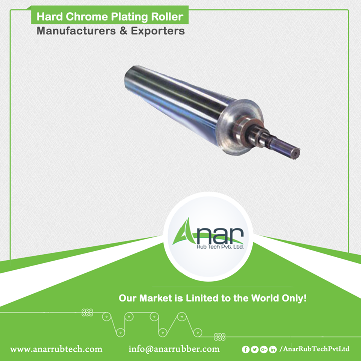 With German Super Finishing machine, HCP Roller gives the finest finishing to grinding operations. Anar withholds the quality by a resulting finest surface of 0.005 Micron Ra Value on the roll. With the length of 524 * 6000 mm length and capacity of 10 tonnes, it is a sturdy product by Anar. #HardChromePlatedRoller #HardChromePlatedRollerManufacturers #HardChromePlatedRollerExporters #HardChromePlatedRollerSuppliers w:http://anarrubtech.com/   E:marketing@anarrubber.com  M:+91 9825405265