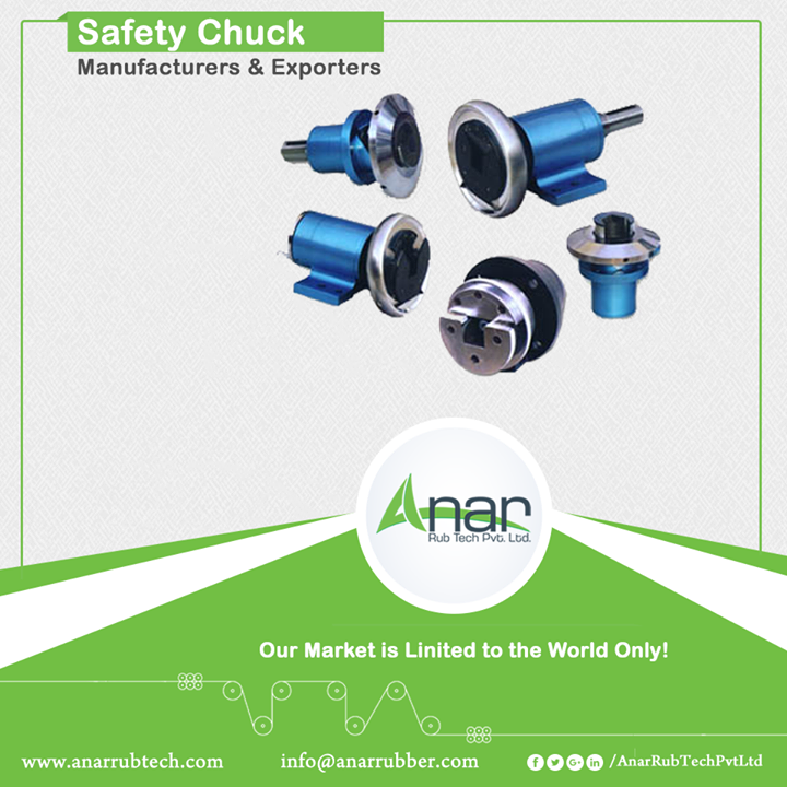 Also known as square bar holders or triangular shaft end, safety chucks are used for unwinding or winding position.Moreover, it saves loading or unloading time. The name itself suffices; it also runs in an absurd mechanism. All its accessories are manufactured in CGS and FPS sizes. Basically these chucks are available in 1, 1.25 , 1.5 and 2 metric sizes. #SafetyChuck #SafetyChuckManufacturers #SafetyChuckExporters #SafetyChuckSuppliers