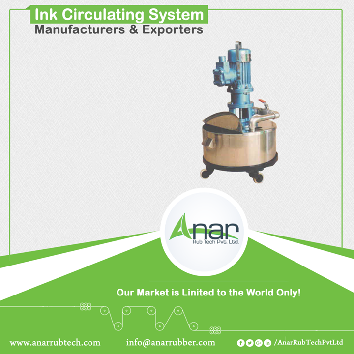 Anar manufactures good quality Ink Circulating System which makes least wastage of ink and film. It delivers better output with consistency. The flow rate of this circulating system is 25 litres/min of water. The volume of tank is minimum of 10 litres and maximum is as per your requirement which is in favour of clients in relevant industries. #InkCirculatingSystem #InkCirculatingSystemManufacturers #InkCirculatingSystemExporters #InkCirculatingSystemSuppliers