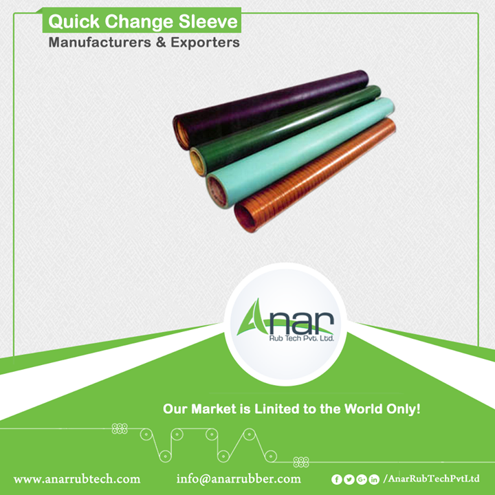 Anar manufactures quick change sleeves which saves time, cost saving and vertical storage. With the length of up to 3000 mm and thickness of 1.5 and 2 mm, it gives complete storage for printing and laminating industries.  #QuickChangeSleeve #QuickChangeSleeveManufacturers #QuickChangeSleeveExporters #QuickChangeSleeveSuppliers