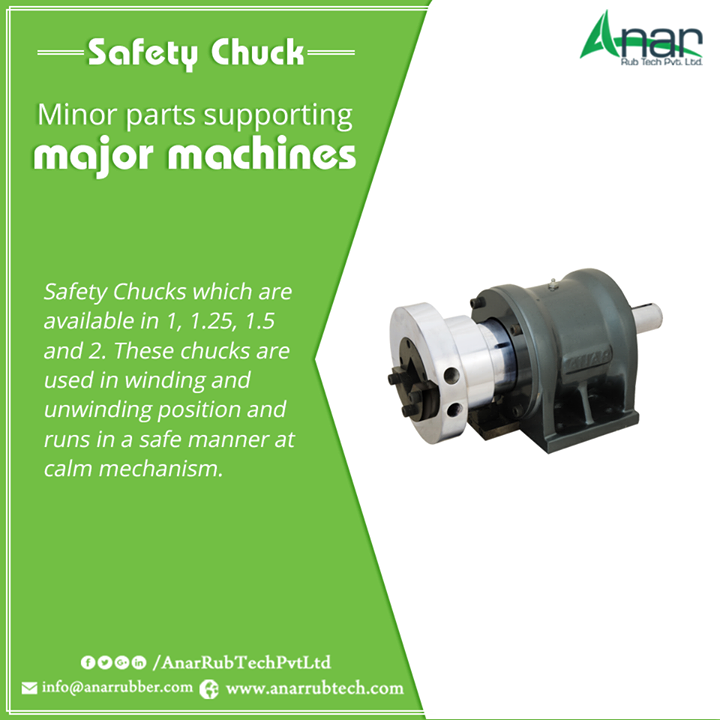 Safety Chucks which are available in 1, 1.25, 1.5 and 2. These chucks are used in winding and unwinding position and runs in a safe manner at calm mechanism.  #SafetyChuck  #SafetyChuckManufacturers  #SafetyChuckExporters  #SafetyChuckSuppliers