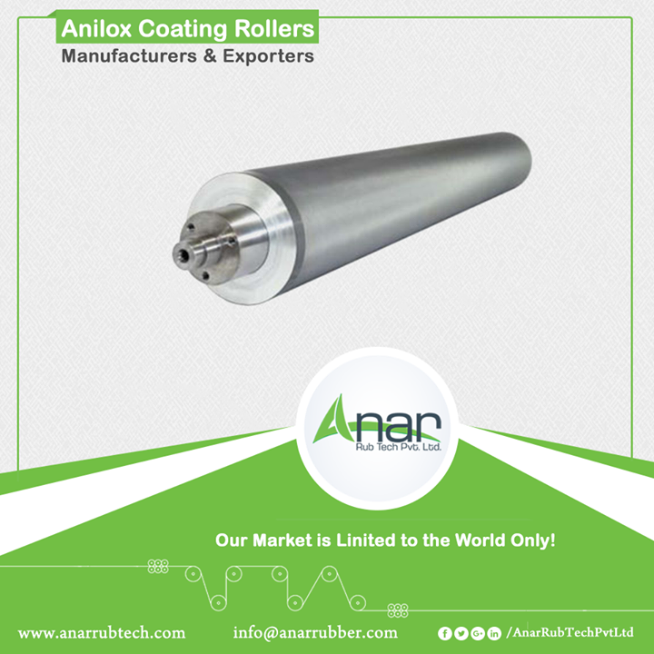 Anar manufactures mechanically pertinent coating rollers which are joint less. Available in Mesh Screen range from 25 to 300, it can fulfil a mass of clients. It has a uniform depth and high precision lathe which is serving the purpose of quality in paper industries and textile industries.  #AniloxRollersforPaperindustries #AniloxRollersforTextileindustries #AniloxRollersManufacturers   #AniloxRollersExporters   #AniloxRollersSuppliers