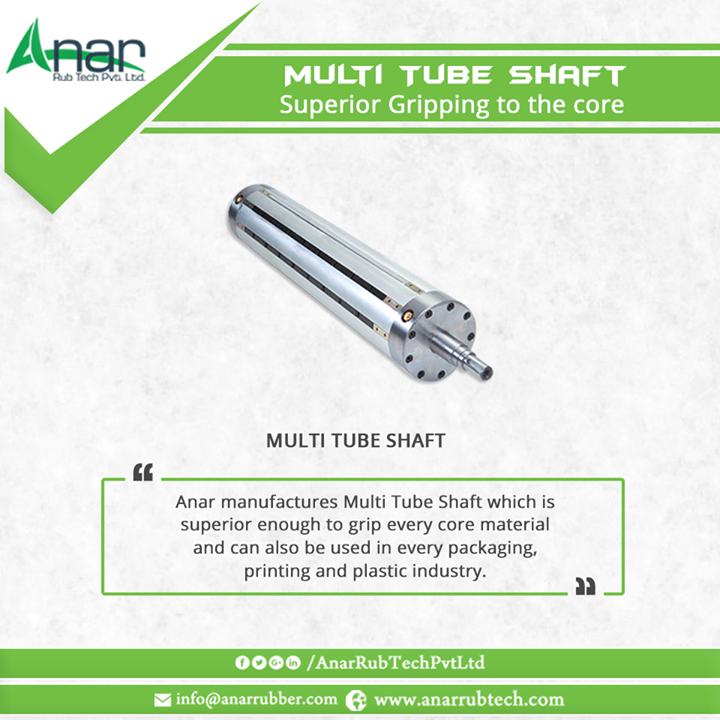Anar manufactures Multi Tube Shaft which is superior enough to grip every core material and can also be used in every packaging,printing and plastic industry.  #MultiTubeShafts  #MultiTubeShaftsManufacturers  #MultiTubeShaftsExporters  #MultiTubeShaftsSuppliers