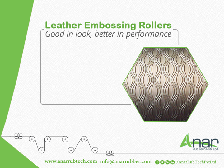 Leather Embossing Rollers by Anar Rub Tech Pvt. Ltd. rolls uniquely with equally spreading ink and quality in embossing. #LeatherEmbossingRollers #LeatherEmbossingRollersManufacturers #LeatherEmbossingRollersExporters  #LeatherEmbossingRollersSuppliers