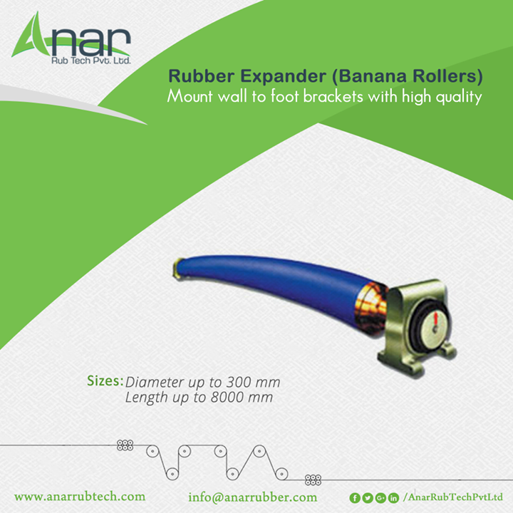 Banana Rollers by Anar Rub Tech Pvt. Ltd. gives a range of diameter with 300 mm to 8000 mm of length. For better quality performance, we manufacture high engineered machines #BananaRollers #BananaRollersManufacturers #BananaRollersExporters  #BananaRollersSuppliers
