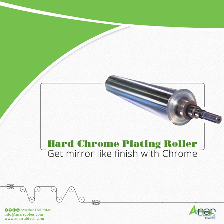 Hard Chrome Plating Roller by Anar Rub Tech Pvt.Ltd. manufactures HCP Rollers which are highly resistant to high glossy effects and weighs 10 tons of capacity to grinding operation.  #HardChromePlatingRoller #HardChromePlatingRollerManufacturers  #HardChromePlatingRollerExporters  #IndustrialHardChromeRollPlatingSuppliers #IndustrialHardChromeRollPlatingManufacturers