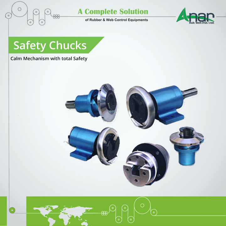 Minimal size yet providing safety and calm mechanism to every operational activities. Safety Chucks by Anar Rub Tech Pvt.Ltd. gives maintenance free working to machines by handling all load with ease.  #SafetyChuck   #SafetyChuckManufacturers   #SafetyChuckExporters   #SafetyChuckSuppliers