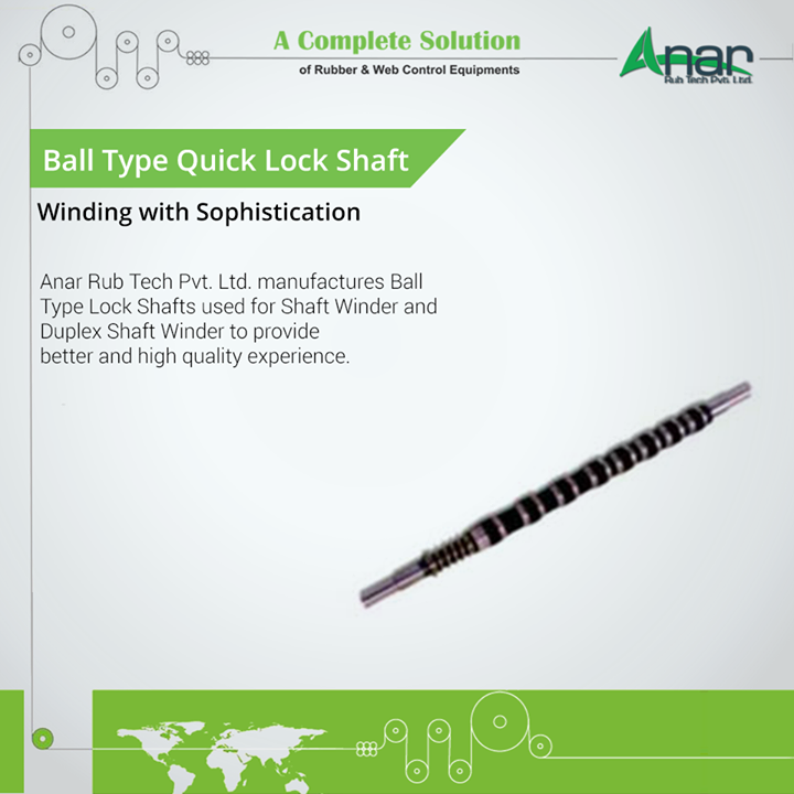 Anar Rub Tech Pvt. Ltd. manufactures Ball Type Lock Shafts used for Shaft Winder and Duplex Shaft Winder to provide better and high quality experience.    #QuickLockShaft #QuickLockShaftManufacturers  #QuickLockShaftExporters #QuickLockShaftSuppliers