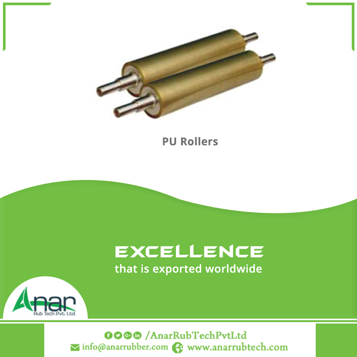 PU Rollers by Anar Rub Tech Pvt. Ltd is internationally suitable for usage and meeting clients needs for long functioning hours.  #PURollers #PURollersManufacturers #PURollersExporters #PURollersSuppliers