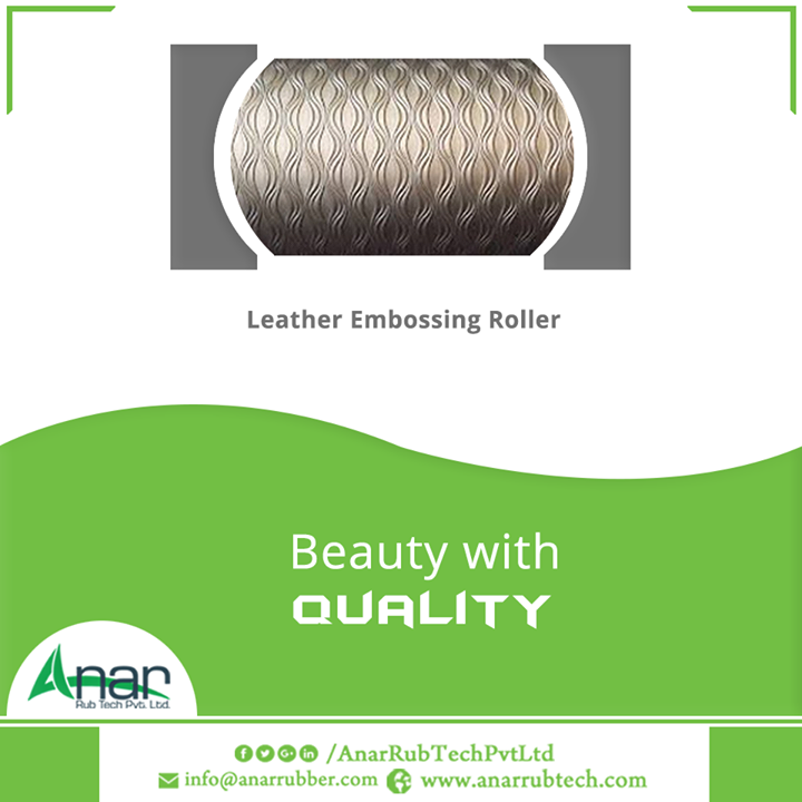 Anar Rub Tech Pvt. Ltd. manufactures Leather Embossing Rollers with better quality assurance which is easy to clean and provides better stirring performance in compared to other competitive companies. #LeatherEmbossingRoller  #LeatherEmbossingRollerManufacturers #LeatherEmbossingRollerExporters #LeatherEmbossingRollerSuppliers