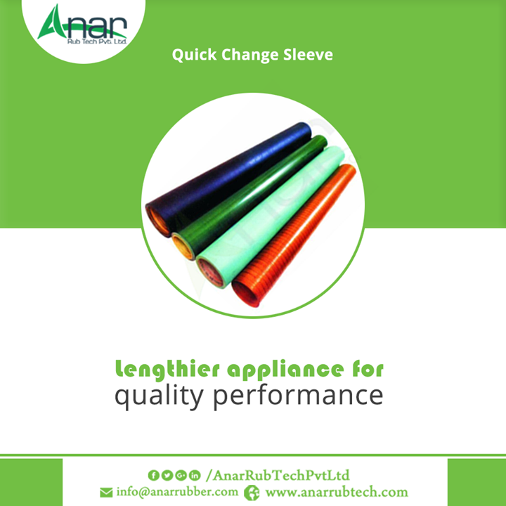 Quick Change Sleeve by Anar Rub Tech Pvt. Ltd. is superior machinery for better performance and steel mandrel for grinding the sleeve. #QuickChangeSleeve #QuickChangeSleeveManufacturers #QuickChangeSleeveExporters #QuickChangeSleeveSuppliers w:http://anarrubtech.com/   E:marketing@anarrubber.com   M:+91 9825405265