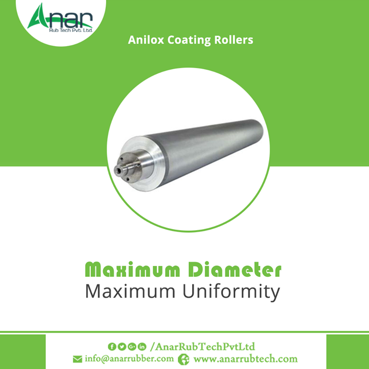 Anilox Coating Rollers by Anar Rub Tech Pvt.Ltd. is with appropriate thickness and stability for precision lathe.  #AniloxCoatingRollers #AniloxCoatingRollersManufacturers #AniloxCoatingRollersExporters #AniloxCoatingRollersSuppliers