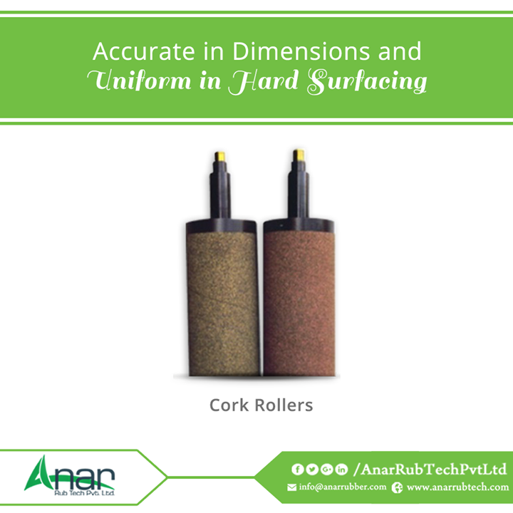 Cork Rollers by Anar Rub Tech Pvt. Ltd. are manufactured with high precision qualities with accuracy and uniformity in surfacing over rubber surface.  #CorkRollers #CorkRollersManufacturers  #CorkRollersExporters #CorkRollersSuppliers