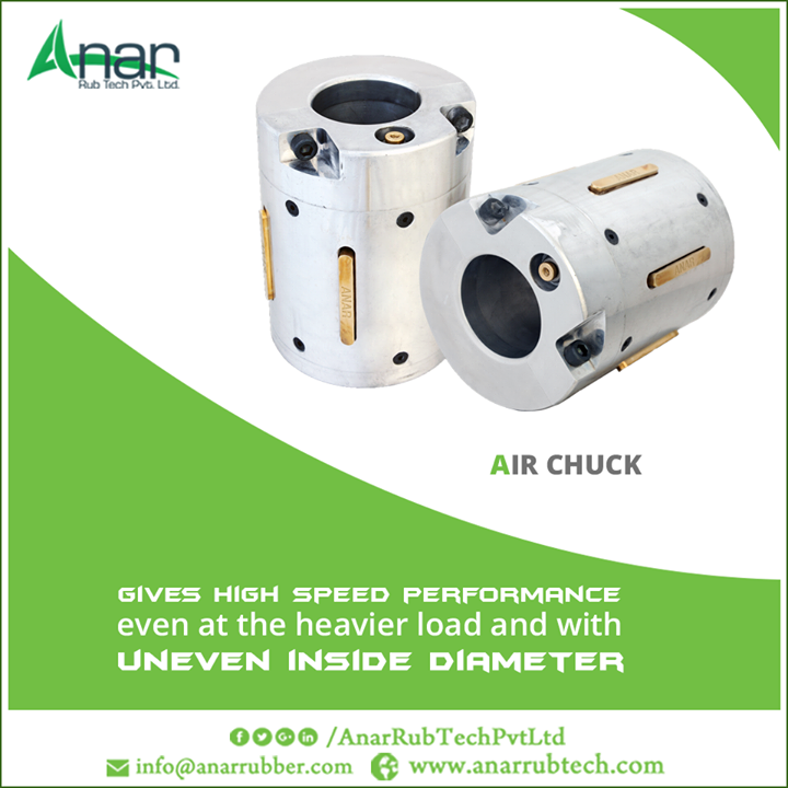 Air Chuck which gives high speed performance even at the heavier load and with uneven inside diameter. #AirChuck #AirChuckManufacturers #AirChuckExporters  #AirChuckSuppliers