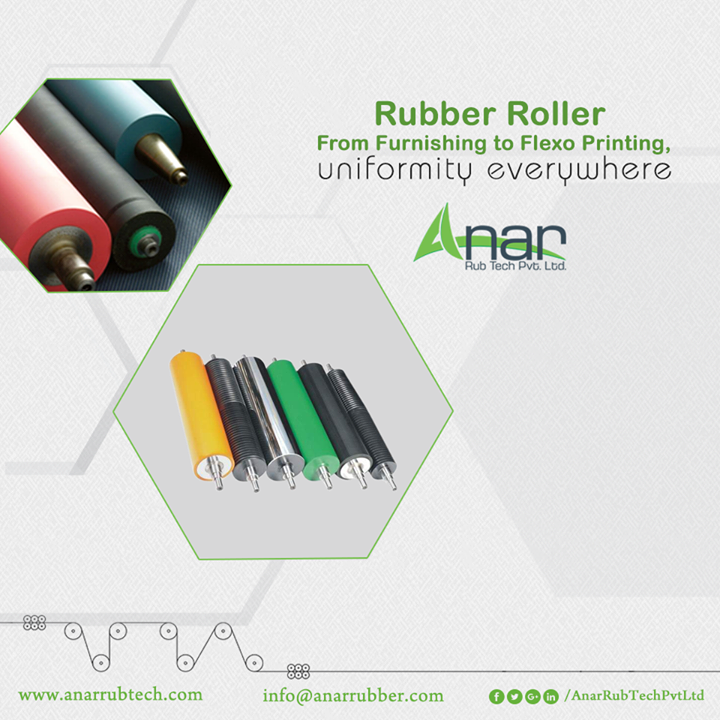 Rubber Rollers by Anar Rub Tech gives uniform surfacing in every printing industry. #RubberRollersforPrintingIndustry #PrintingRubberRollerManufacturers #PrintingRubberRollerExporters  #PrintingRubberRollerSuppliers #PrintingIndustryRollersManufacturers