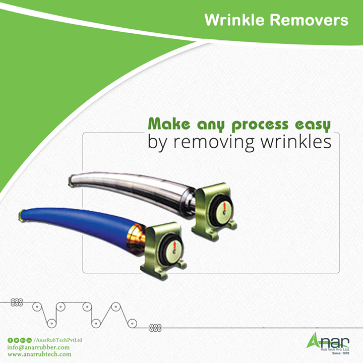 Anar Rub Tech manufactures Wrinkle Removers Rollers which erases every such shrunk width and gives a smooth surfacing.  #WrinkleRemoverRollers  #WrinkleRemoverRollersManufacturers #WrinkleRemoverRollersExporters #WrinkleRemoverRollersSuppliers #BestManufacturersofWrinkleRemoverRollers