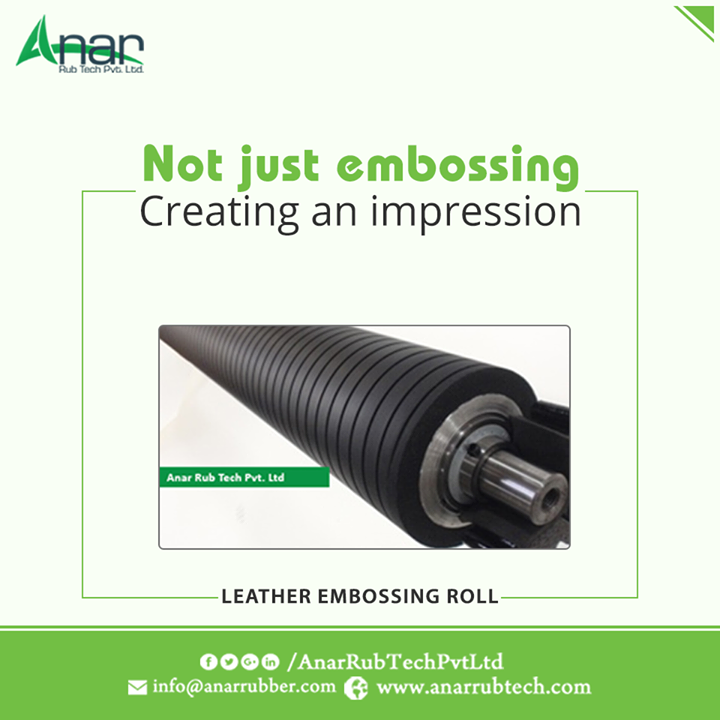 Finishing on any product made with Leather delivered by high performance Leather Embossing Roller by Anar Rub Tech Pvt. Ltd.  #LeatherEmbossingRoller   #LeatherEmbossingRollerManufacturers  #LeatherEmbossingRollerExporters  #LeatherEmbossingRollerSuppliers
