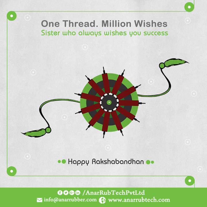 Sister is the one who always wishes good and success in life. Anar celebrates this Rakshabandhan with beloved Sister and Brother with joy and happiness. #RakshaBandhan #HappyRakshaBandhan #AirChuckManufacturers  #PURollersManufacturers  #RubberGroovedSpreaderRollerManufacturers w:http://anarrubtech.com/   E:marketing@anarrubber.com   M:+91 9825405265