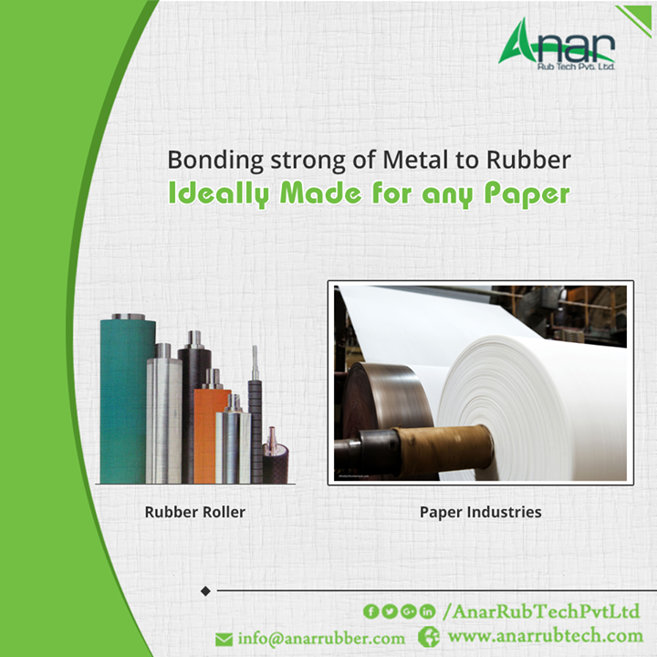 Suitable for any Paper Industry and carrying a high load capacity to your machine, Rubber Roller made by Anar is high precision on quality surfacing and evenness.  #RubberRollersforPaperindustry #RubberRollerManufacturersPaperIndustry #RubberRollerExportersPaperIndustry #RubberRollerSuppliersPaperIndustry