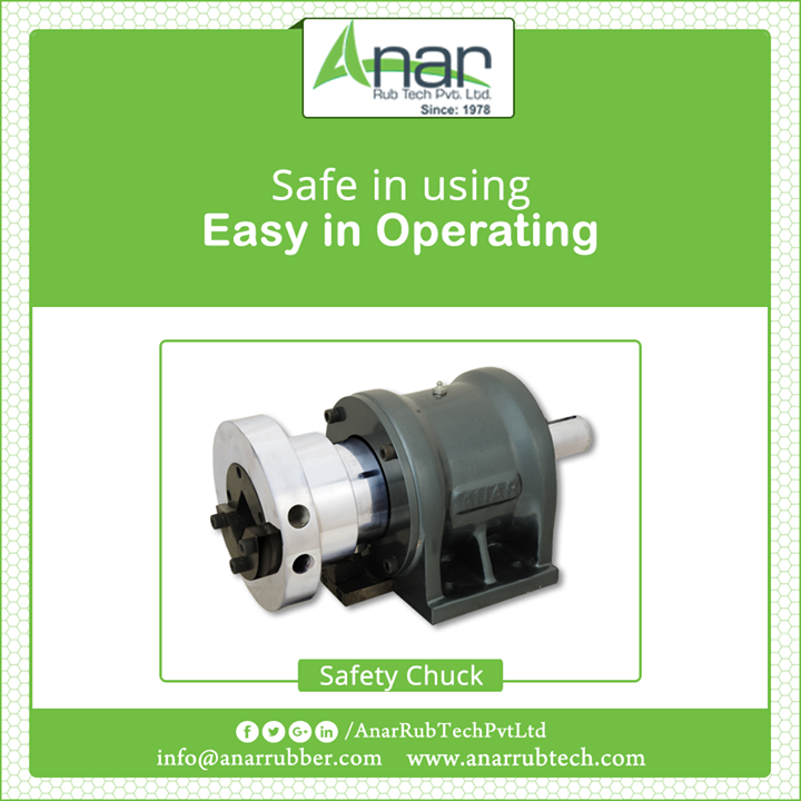 Safety Chuck by Anar Rub tech is easy in operating and gives support to every material and object while operation. #SafetyChuck #SafetyChuckManufacturers #SafetyChuckExporters #SafetyChuckSuppliers