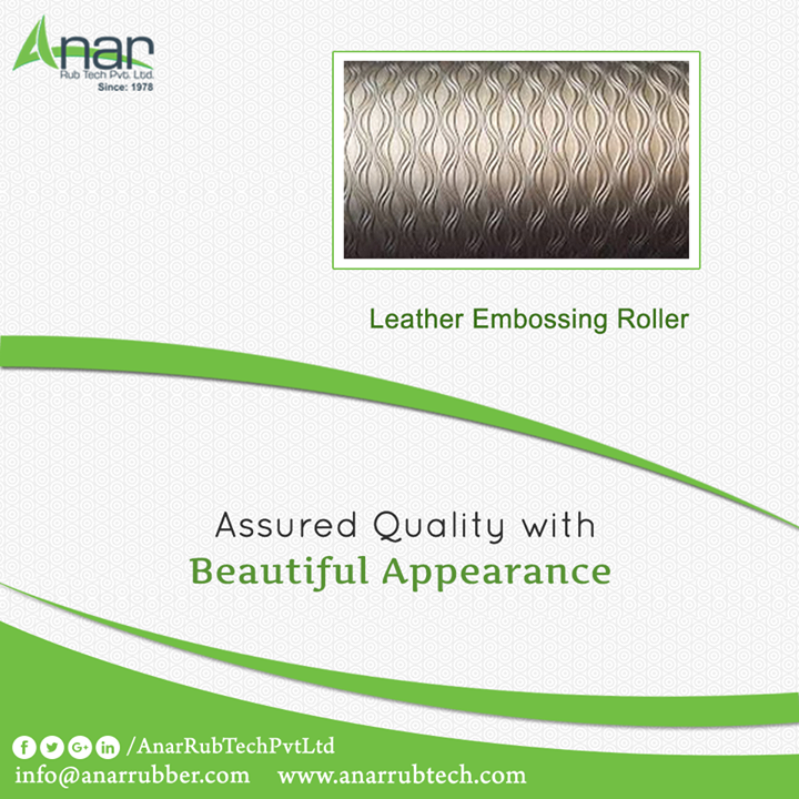 Anar Rub Tech manufactures Leather Embossing Rollers which are better in quality and even giving a beautiful appearance on any embossing surface.  #LeatherEmbossingRollers #LeatherEmbossingRollersManufacturers  #LeatherEmbossingRollersExporters  #LeatherEmbossingRollersSuppliers