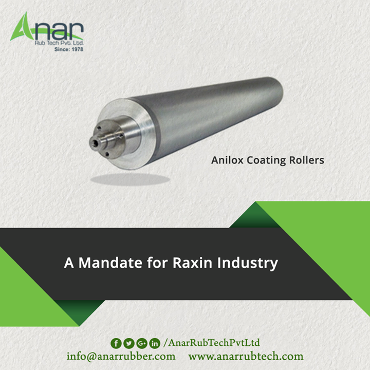 Anliox Coating Rollers by Anar Rub Tech is featured with high performance suitable for Raxin Industries with quality.  #AnlioxCoatingRollers #AnlioxCoatingRollersManufacturers #AnlioxCoatingRollersExporters #AnlioxCoatingRollersSuppliers