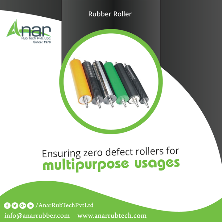 Industrial Rubber Rollers by Anar Rub Tech gives the defect less rollers for better functioning of appliances whether in food industry or the hardware industry.  #RubberRollers  #RubberRollersManufacturersinAhmedabad  #RubberRollersExportersinAhmedabad  #RubberRollersSuppliersinAhmedabad