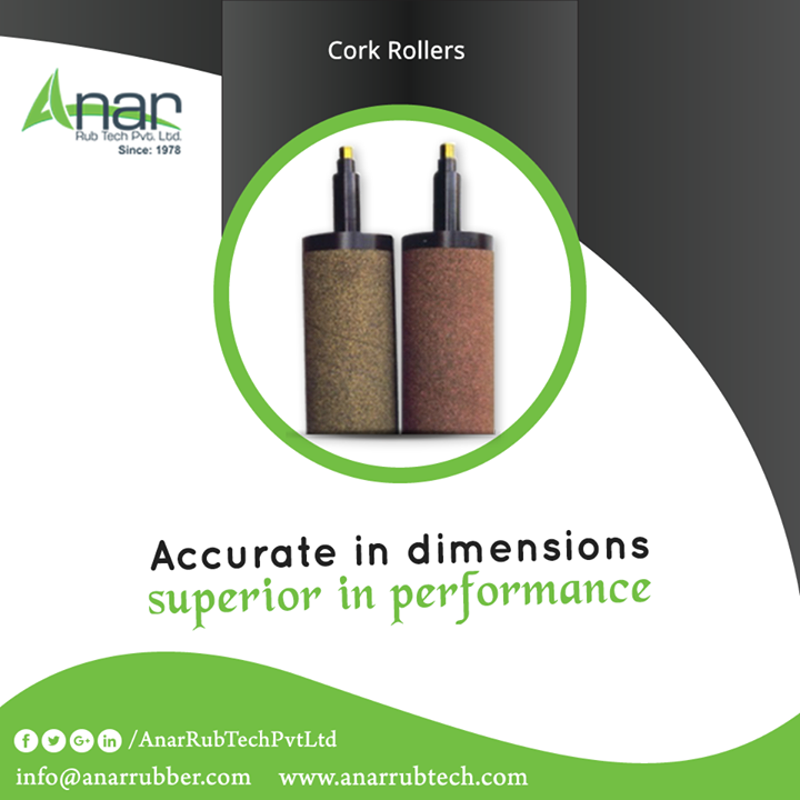 Cork Rollers by Anar Rub Tech is manufactured with accurate in dimension and is uniform in hardness of surface for better performance.   #CorkRollers  #CorkRollersManufacturers  #CorkRollersExporters #CorkRollersSuppliers