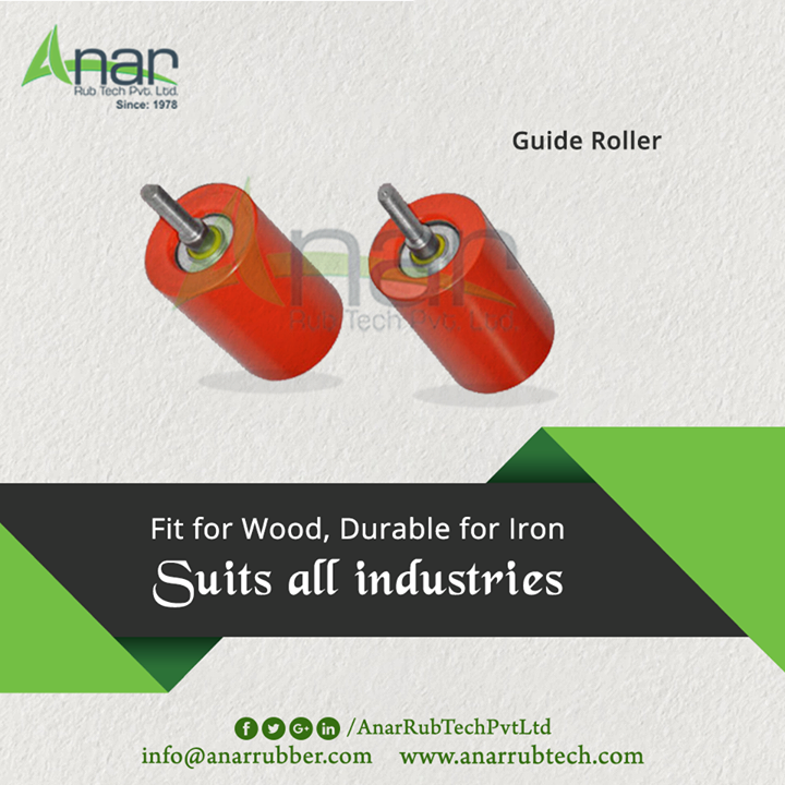 Guide Rollers by Anar Rub Tech is highly used in every industry ranging from wooden to iron mechanism.  #GuideRollers #GuideRollersManufacturers  #GuideRollersExporters #GuideRollersSuppliers