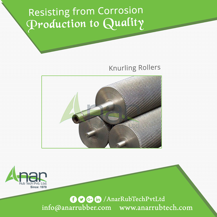 Knurling Rollers by Anar Rub Tech is manufactured with better qualitative features such as durability, reliability,and corrosion resistance. #KnurlingRollers #KnurlingRollersManufacturers  #KnurlingRollersExporters #KnurlingRollersSuppliers