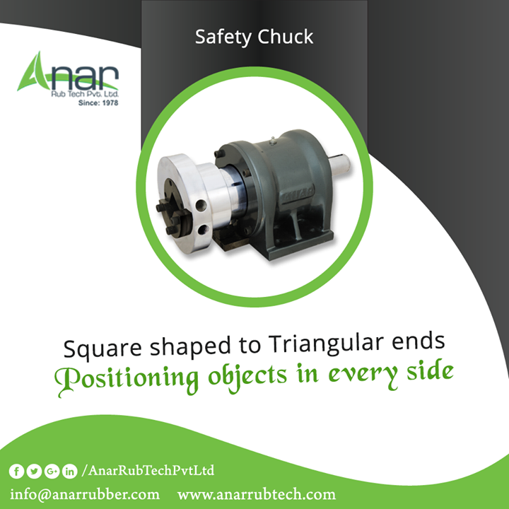 Anar Rub Tech manufactures Safety Chuck for better positioning of objects utilised in cutting in proper shape. #SafetyChuck #SafetyChuckManufacturers  #SafetyChuckExporters #SafetyChuckSuppliers