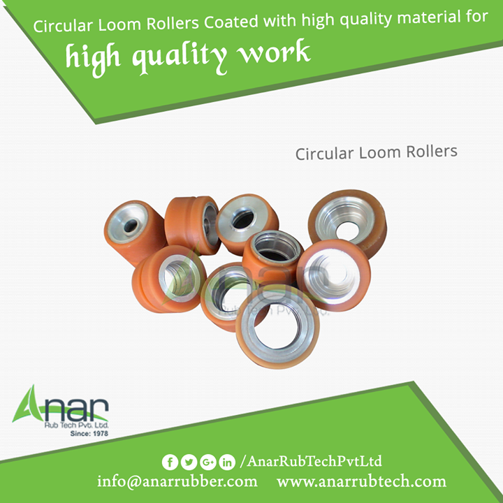 Anar Rub Tech manufactures high quality Circular Loom Rollers for better quality work and output.  #CircularLoomRollers #CircularLoomRollersManufacturers  #CircularLoomRollersExporters  #CircularLoomRollersSuppliers